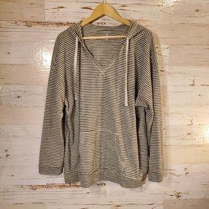Sonoma stripe hooded sweatshirt